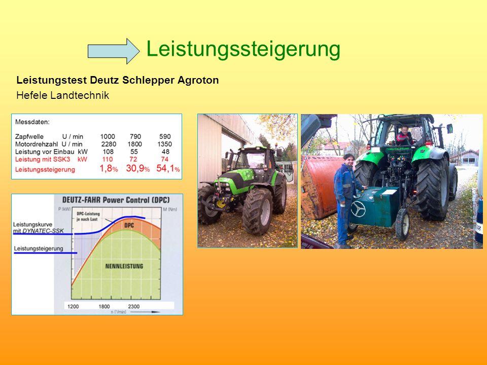 Leistungssteigerung Leistungstest Deutz Schlepper Agroton Hefele Landtechnik