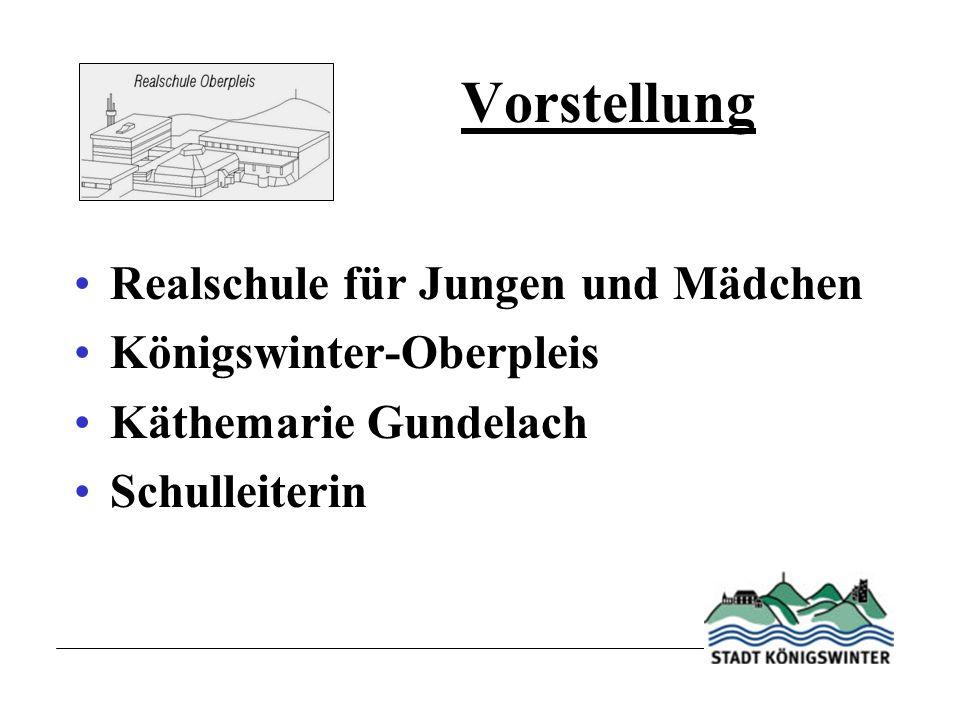 Vorstellung Realschule für Jungen und Mädchen Königswinter-Oberpleis Käthemarie Gundelach Schulleiterin