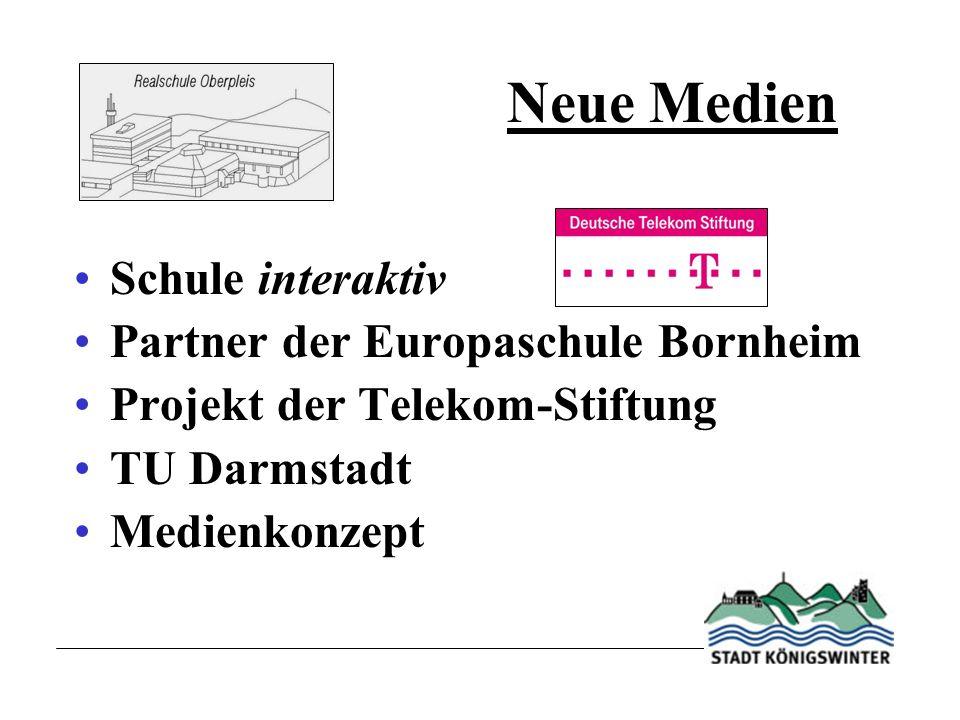 Neue Medien Schule interaktiv Partner der Europaschule Bornheim Projekt der Telekom-Stiftung TU Darmstadt Medienkonzept