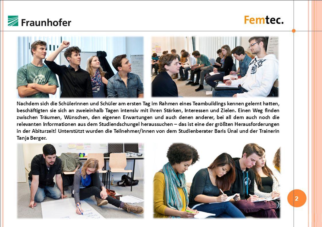 1 / 22 Hier ging es rund: 29 Schülerinnen und Schüler aus dem gesamten Bundesgebiet kamen in Berlin vom 28. Oktober bis zum 02. November 2013 zusammen