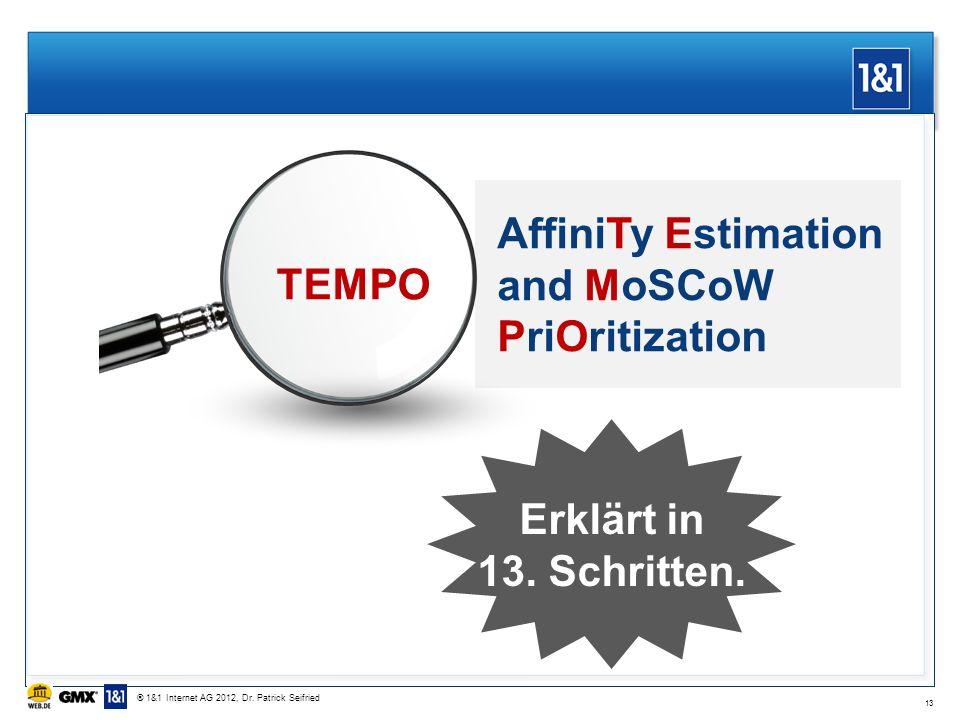 13 AffiniTy Estimation and MoSCoW PriOritization Erklärt in 13.