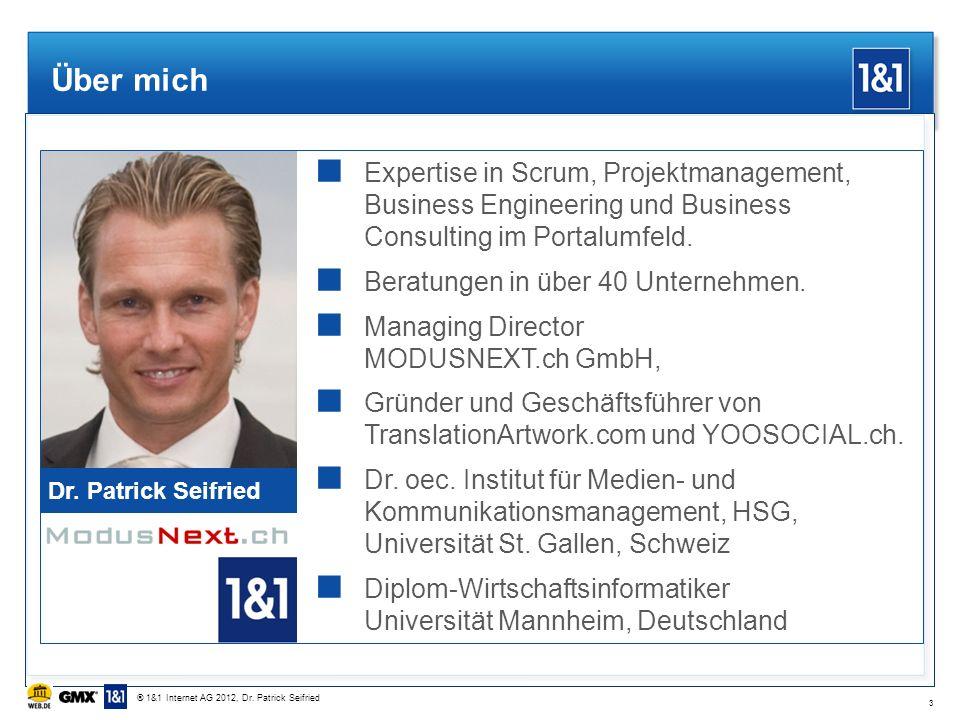 Über mich Dr. Patrick Seifried Expertise in Scrum, Projektmanagement, Business Engineering und Business Consulting im Portalumfeld. Beratungen in über