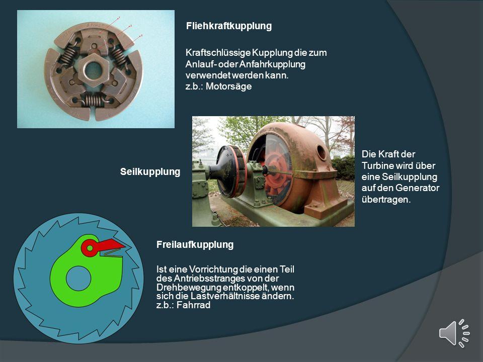 Kraftschlüssige Kupplungen Lamellenkupplung Werden häufig verwendet da sie kompakt und preisgünstig sind. Einsatz in Automatikgetrieben oder in hochbe