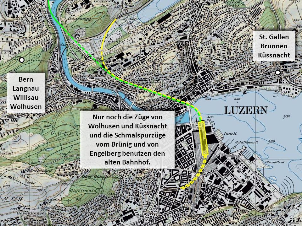 Bern Langnau Willisau Wolhusen St. Gallen Brunnen Küssnacht Nur noch die Züge von Wolhusen und Küssnacht und die Schmalspurzüge vom Brünig und von Eng