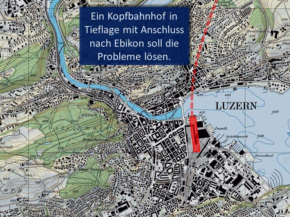 Der einspurige Strecken- abschnitt am Rotsee ist entlastet.