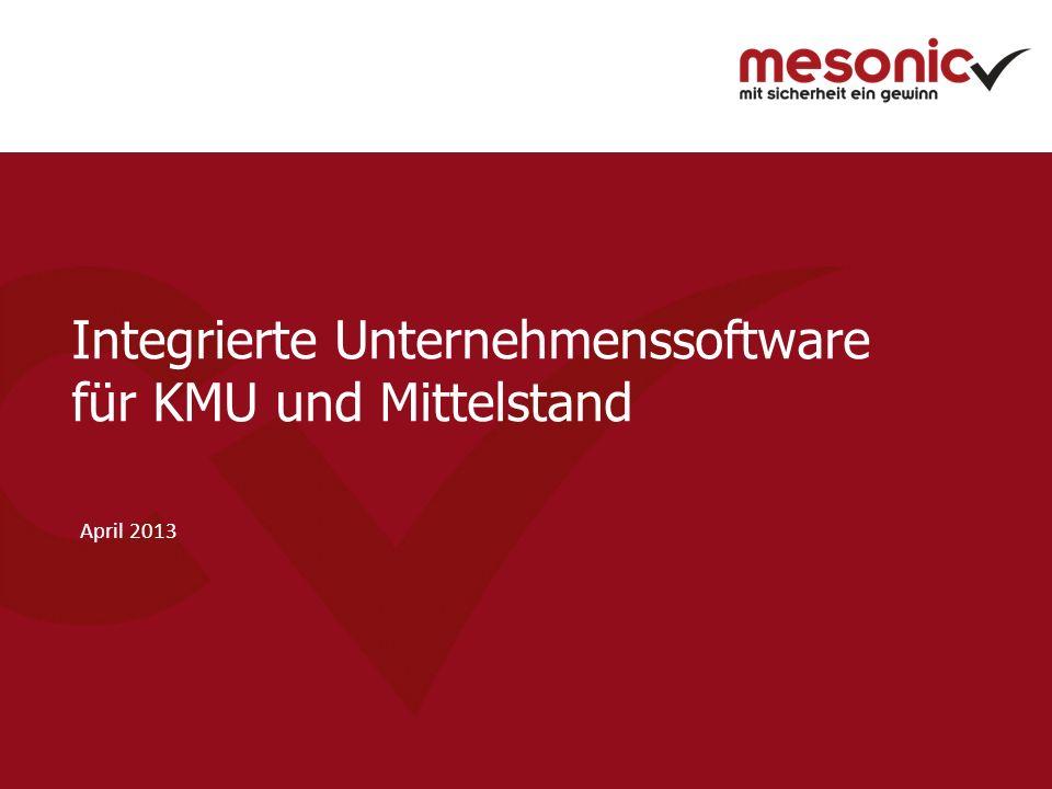 Integrierte Unternehmenssoftware für KMU und Mittelstand April 2013