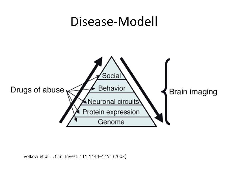 Disease-Modell Volkow et al. J. Clin. Invest. 111:1444–1451 (2003).