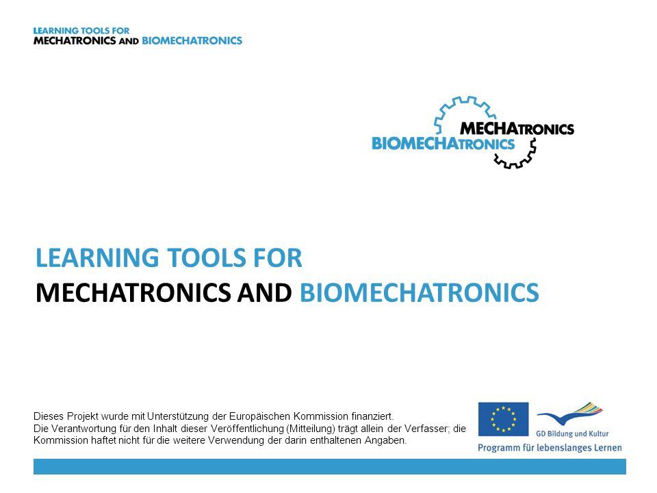 Internationale Website www.biomechatronics.eu -> in englischer,tschechischer, slowenischer und deutscher Sprache