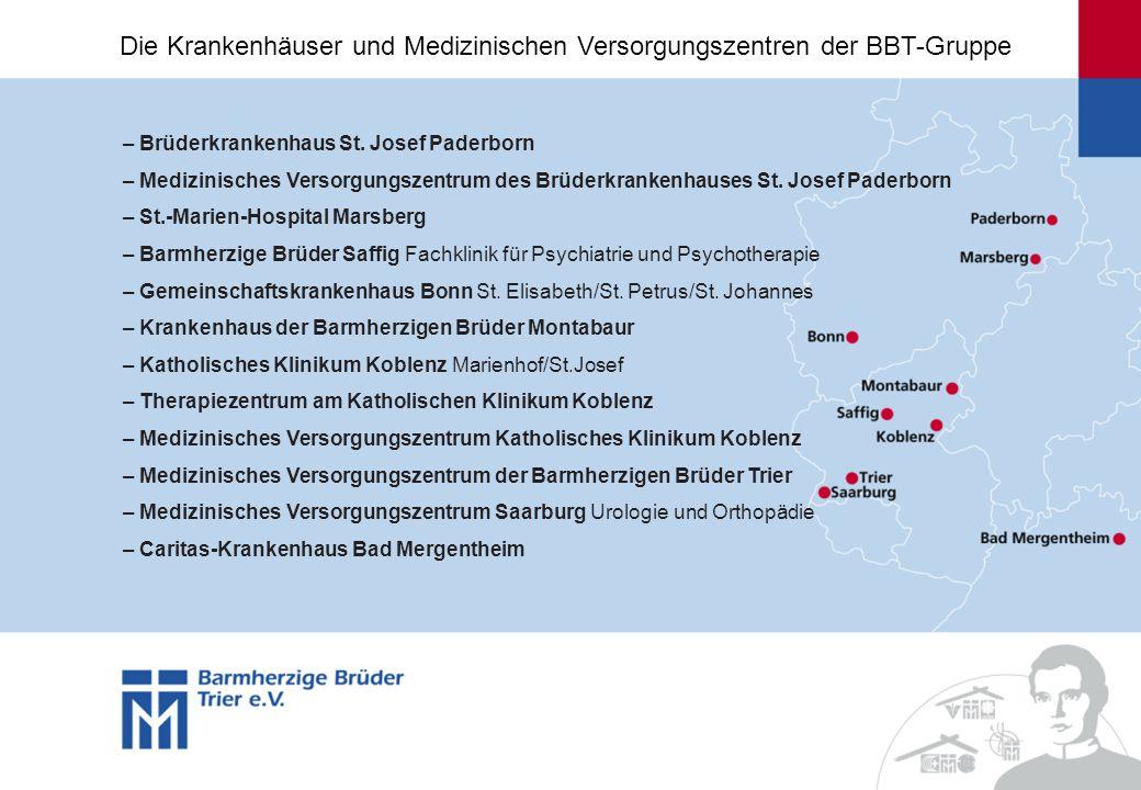– Brüderkrankenhaus St. Josef Paderborn – Medizinisches Versorgungszentrum des Brüderkrankenhauses St. Josef Paderborn – St.-Marien-Hospital Marsberg