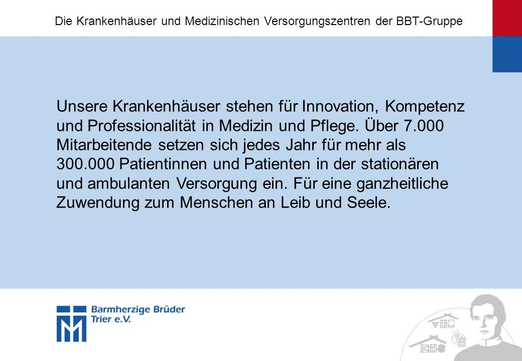 Unsere Krankenhäuser stehen für Innovation, Kompetenz und Professionalität in Medizin und Pflege. Über 7.000 Mitarbeitende setzen sich jedes Jahr für