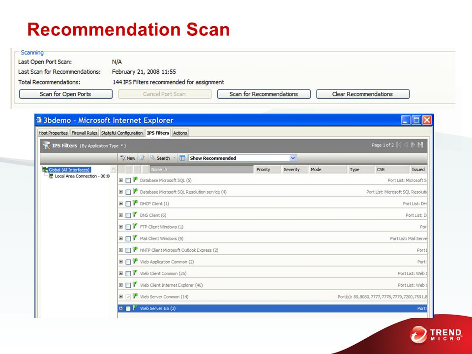 Recommendation Scan