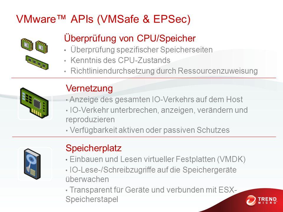 Überprüfung von CPU/Speicher Überprüfung spezifischer Speicherseiten Kenntnis des CPU-Zustands Richtliniendurchsetzung durch Ressourcenzuweisung Verne