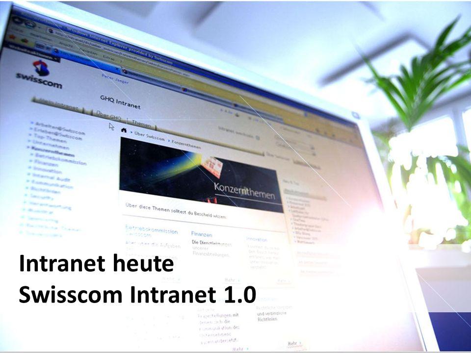27SwissCHI_SwissUPA-Vortrag Intranet heute Swisscom Intranet 1.0