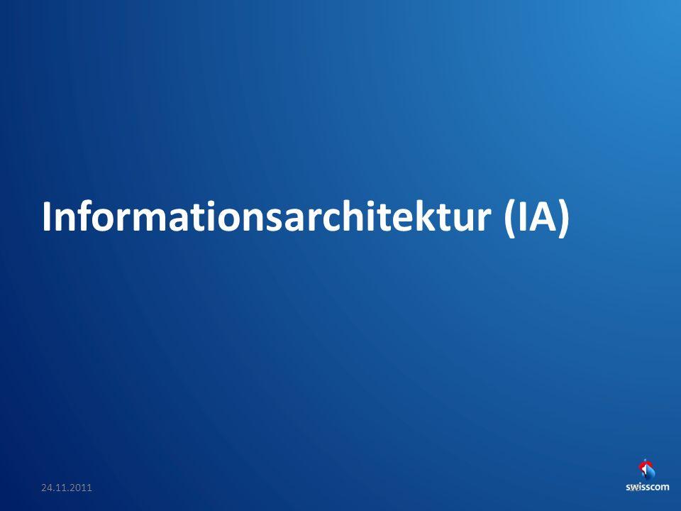 SwissCHI_SwissUPA-Vortrag Informationsarchitektur (IA) 24.11.201128
