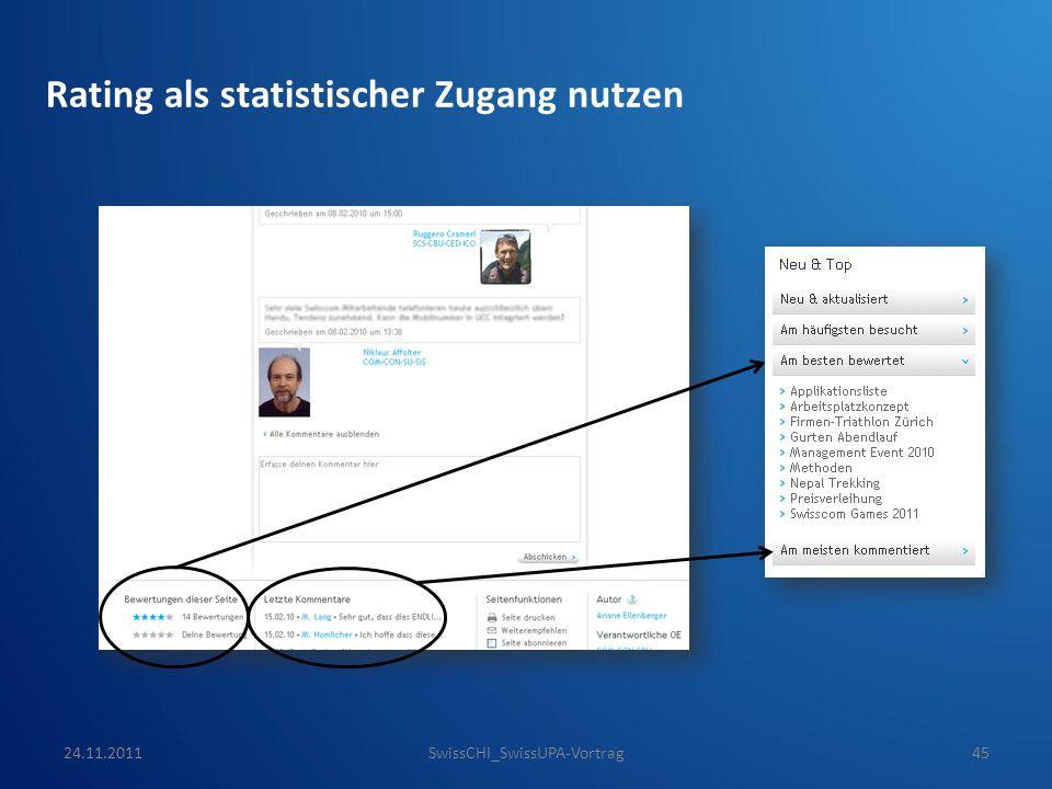 Rating als statistischer Zugang nutzen 24.11.2011SwissCHI_SwissUPA-Vortrag45