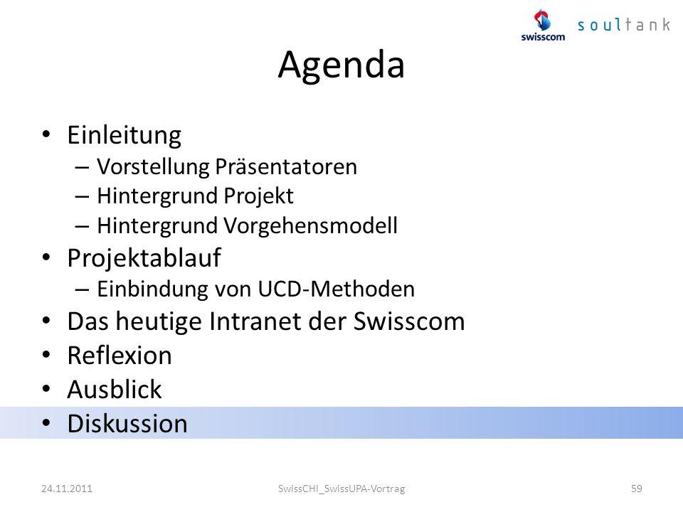 Agenda Einleitung – Vorstellung Präsentatoren – Hintergrund Projekt – Hintergrund Vorgehensmodell Projektablauf – Einbindung von UCD-Methoden Das heut