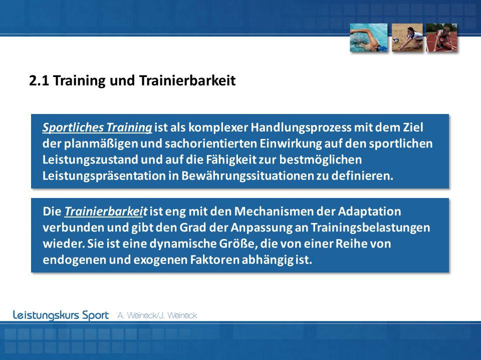 2.1 Training und Trainierbarkeit
