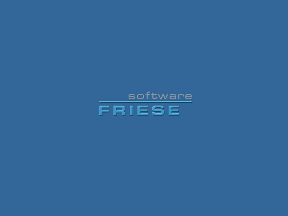 FRED, @LFRED, VERL2000, VERL2000NT © Friese Software GmbH © 2004 by Friese Software GmbH