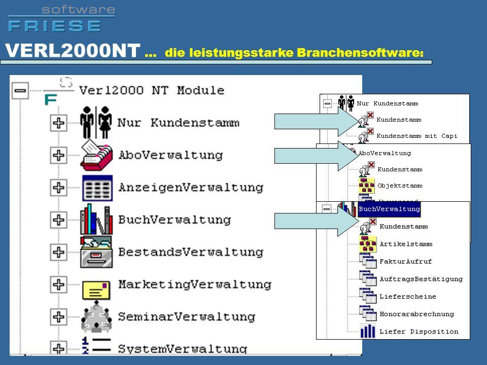 VERL2000NT … die leistungsstarke Branchensoftware :