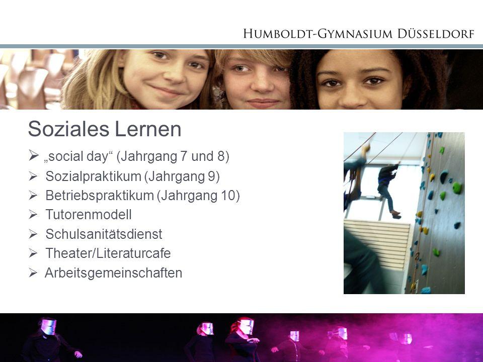 Frau Mie Soziales Lernen social day (Jahrgang 7 und 8) Sozialpraktikum (Jahrgang 9) Betriebspraktikum (Jahrgang 10) Tutorenmodell Schulsanitätsdienst