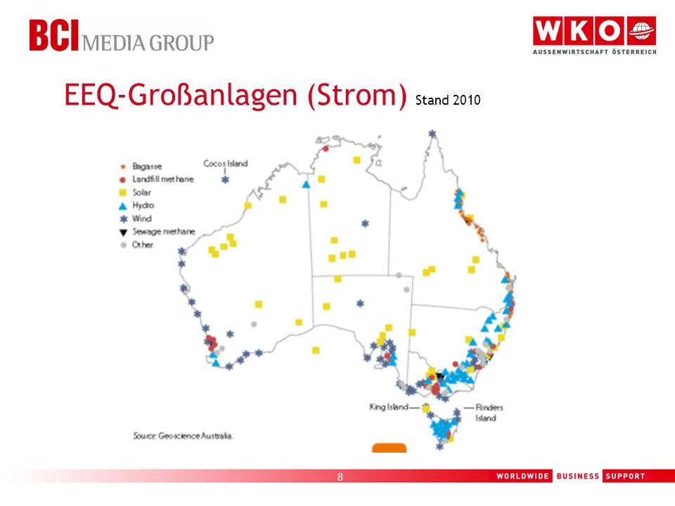 8 EEQ-Großanlagen (Strom) Stand 2010
