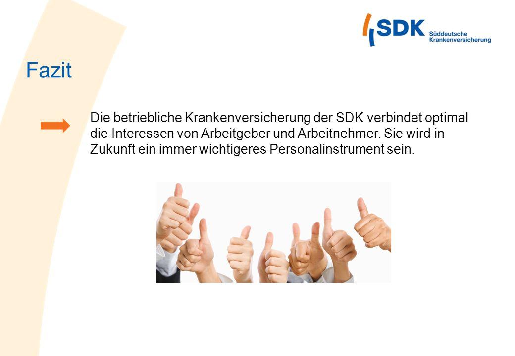 Die betriebliche Krankenversicherung der SDK verbindet optimal die Interessen von Arbeitgeber und Arbeitnehmer. Sie wird in Zukunft ein immer wichtige