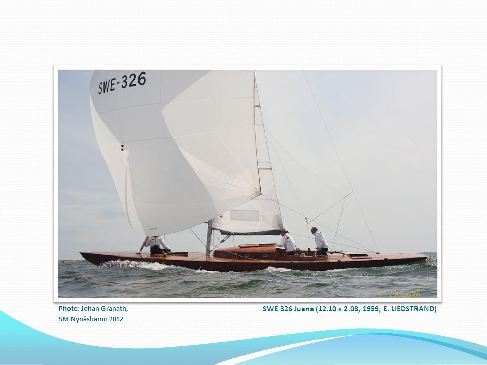 SWE 326 Juana (12.10 x 2.08, 1959, E. LIEDSTRAND) Photo: Johan Granath, SM Nynäshamn 2012