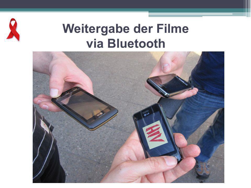 Weitergabe der Filme via Bluetooth