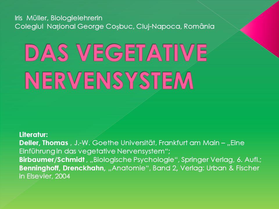 Iris Müller, Biologielehrerin Colegiul Naional George Cobuc, Cluj-Napoca, România Literatur: Deller, Thomas, J.-W. Goethe Universität, Frankfurt am Ma