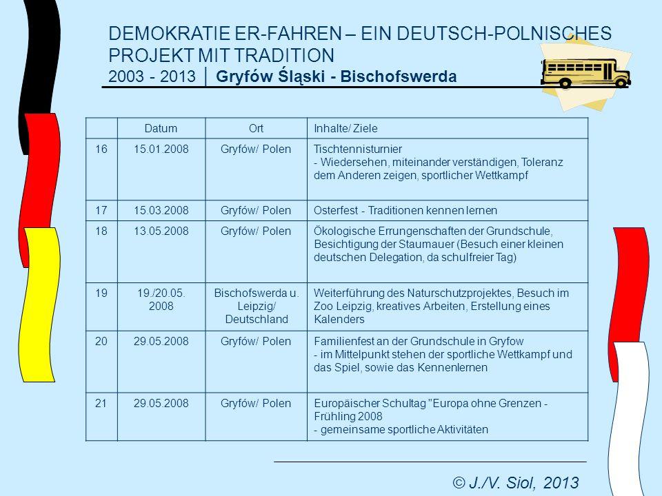 DEMOKRATIE ER-FAHREN – EIN DEUTSCH-POLNISCHES PROJEKT MIT TRADITION 2003 - 2013 Gryfów Śląski - Bischofswerda © J./V.