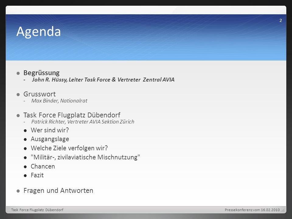 Agenda Begrüssung - John R.