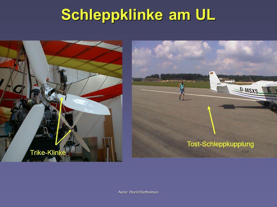 Autor: Horst Barthelmes Schleppklinke am UL Tost-Schleppkupplung Trike-Klinke