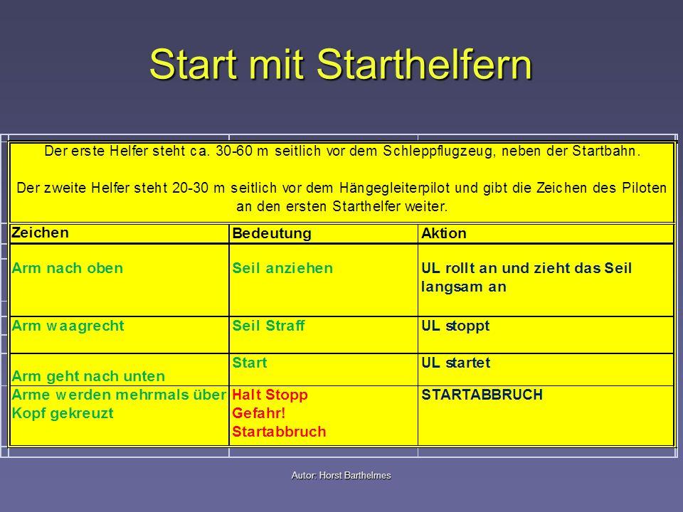 Start mit Starthelfern Autor: Horst Barthelmes