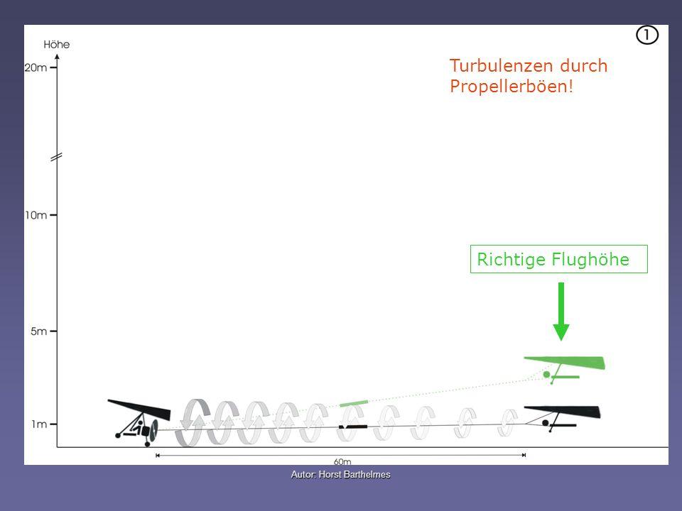 Turbulenzen durch Propellerböen! Richtige Flughöhe
