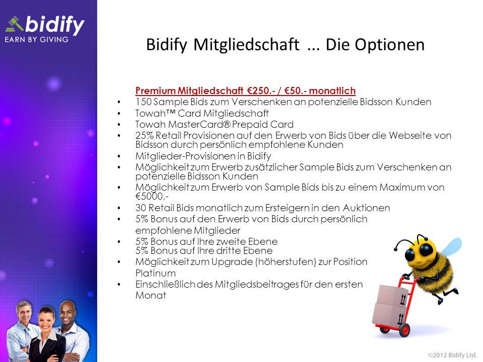 Bidify Mitgliedschaft...