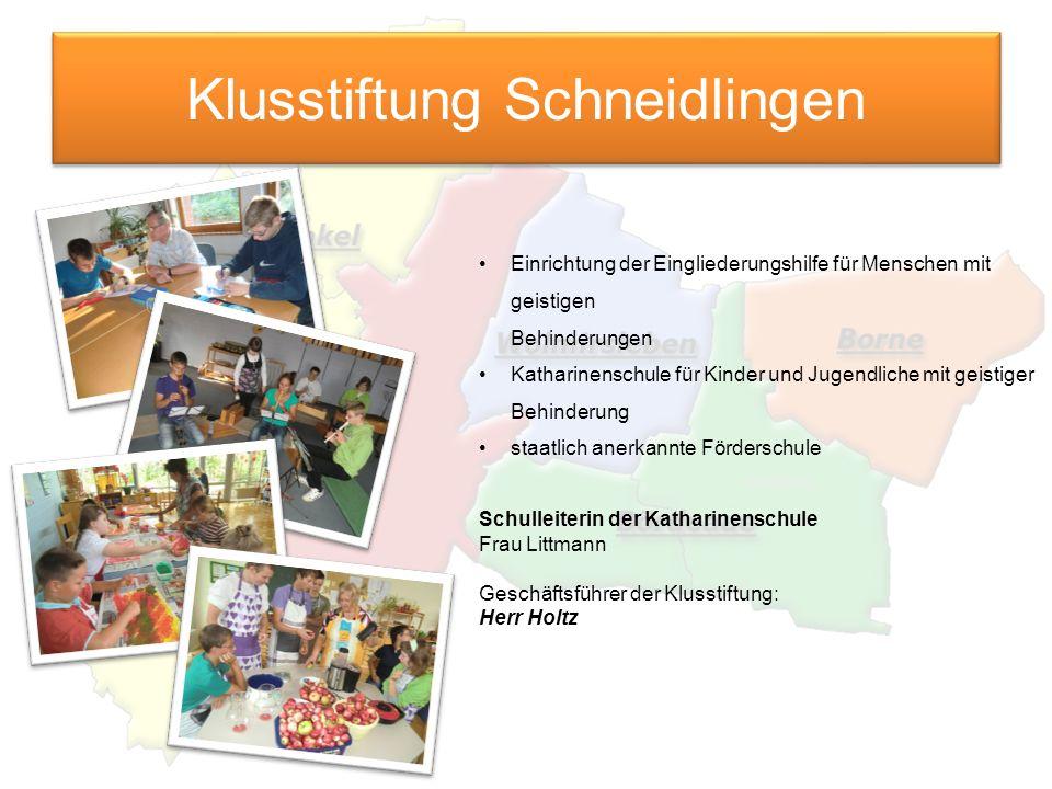 Klusstiftung Schneidlingen Einrichtung der Eingliederungshilfe für Menschen mit geistigen Behinderungen Katharinenschule für Kinder und Jugendliche mi