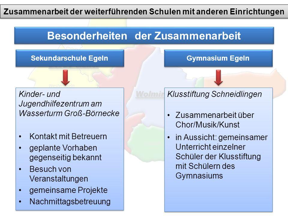 Besonderheiten der Zusammenarbeit Kinder- und Jugendhilfezentrum am Wasserturm Groß-Börnecke Kontakt mit Betreuern geplante Vorhaben gegenseitig bekan