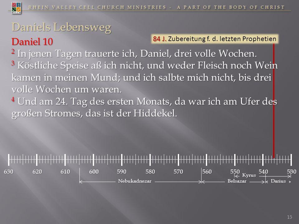 RHEIN VALLEY CELL CHURCH MINISTRIES - A PART OF THE BODY OF CHRIST 630620610600590580570560550530540 Daniels Lebensweg 84 J. 84 J. Zubereitung f. d. l