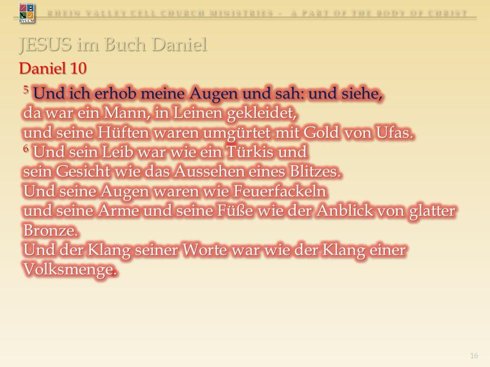 RHEIN VALLEY CELL CHURCH MINISTRIES - A PART OF THE BODY OF CHRIST JESUS im Buch Daniel 16
