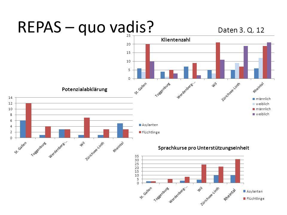 REPAS – quo vadis? Daten 3. Q. 12