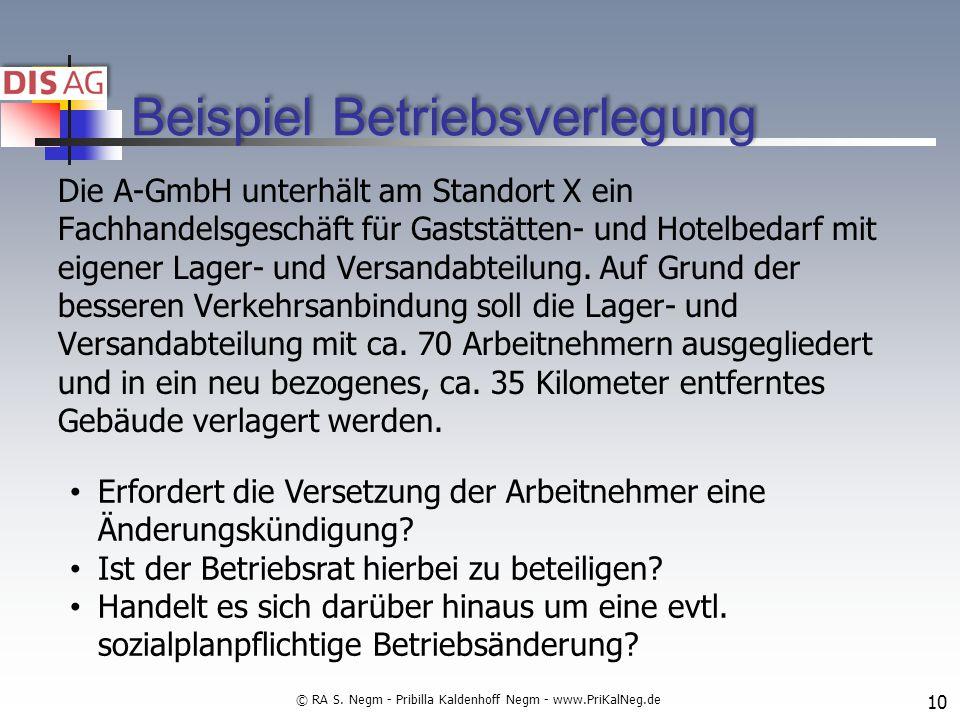 Beispiel Betriebsverlegung Die A-GmbH unterhält am Standort X ein Fachhandelsgeschäft für Gaststätten- und Hotelbedarf mit eigener Lager- und Versandabteilung.