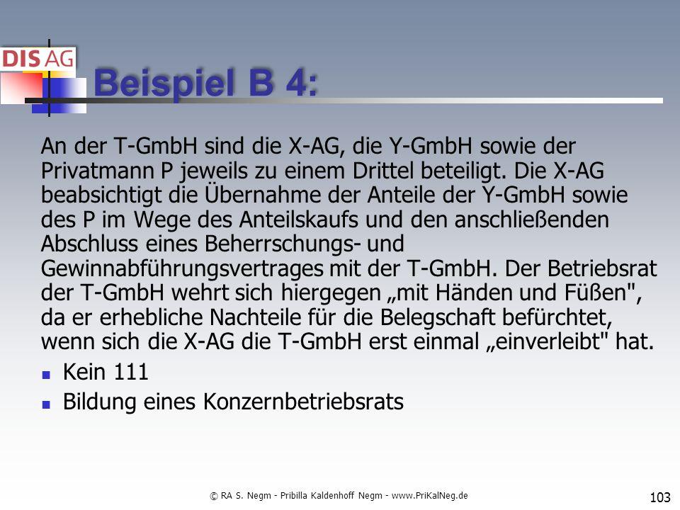 Beispiel B 4: An der T-GmbH sind die X-AG, die Y-GmbH sowie der Privatmann P jeweils zu einem Drittel beteiligt.