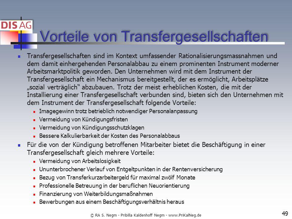 Vorteile von Transfergesellschaften Transfergesellschaften sind im Kontext umfassender Rationalisierungsmassnahmen und dem damit einhergehenden Personalabbau zu einem prominenten Instrument moderner Arbeitsmarktpolitik geworden.