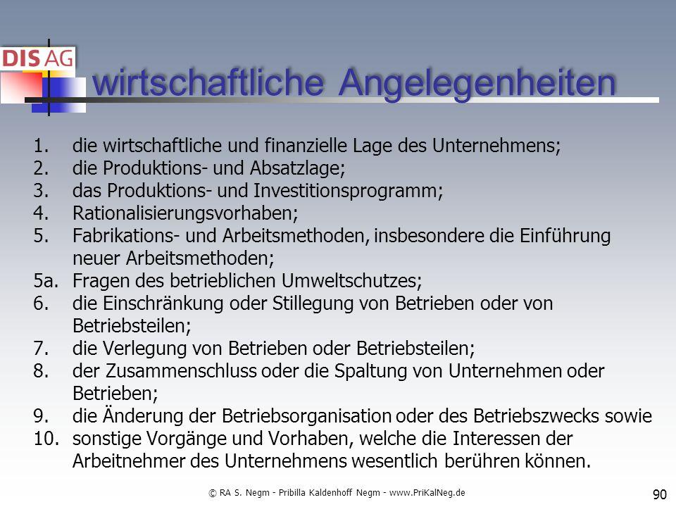 wirtschaftliche Angelegenheiten 1.die wirtschaftliche und finanzielle Lage des Unternehmens; 2.