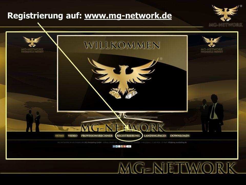 Registrierung auf: www.mg-network.de