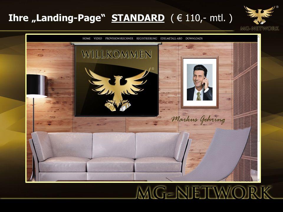Ihre Landing-Page STANDARD ( 110,- mtl. )