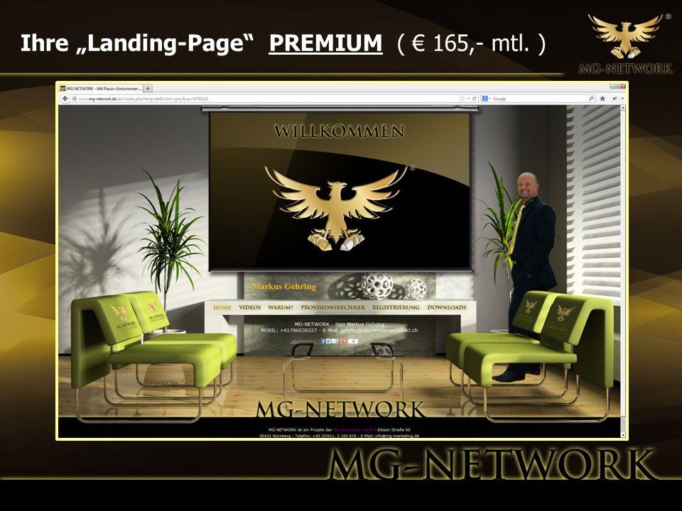 Ihre Landing-Page PREMIUM ( 165,- mtl. )