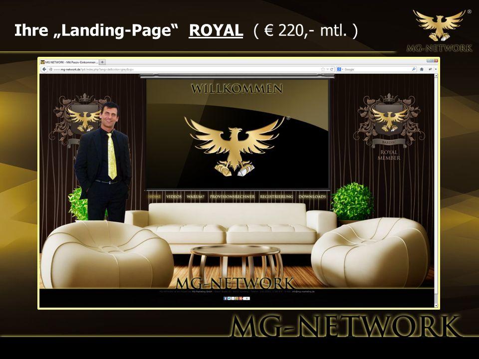 Ihre Landing-Page ROYAL ( 220,- mtl. )