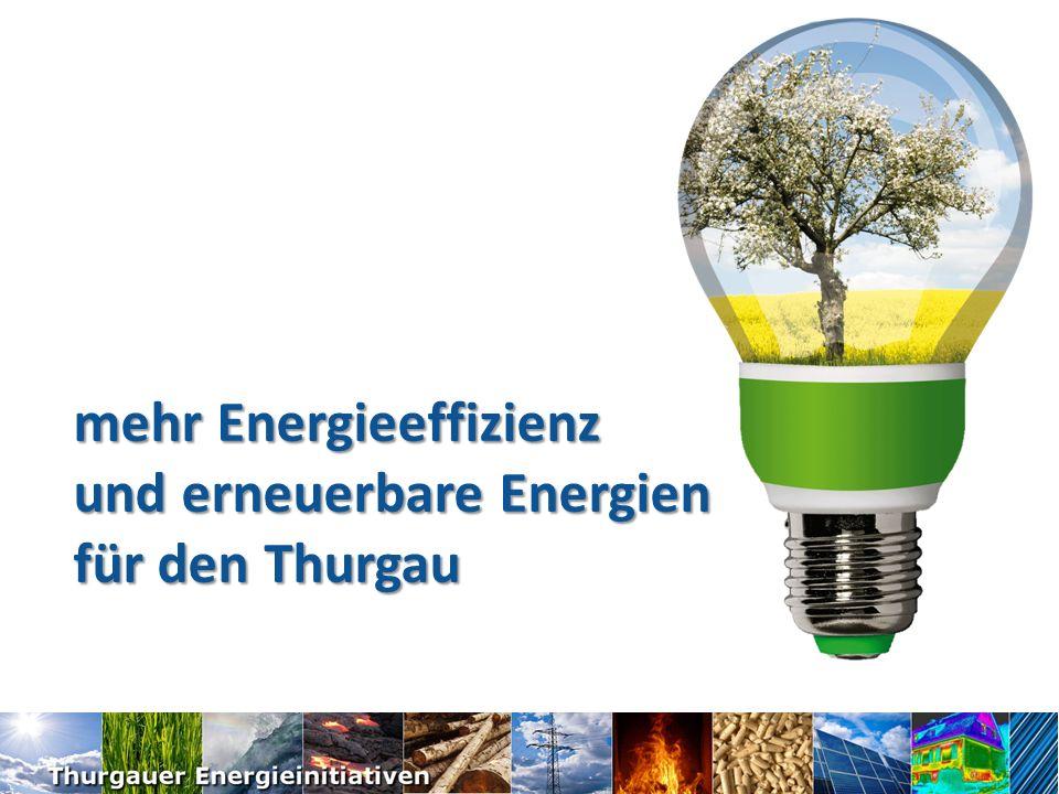 mehr Energieeffizienz und erneuerbare Energien für den Thurgau