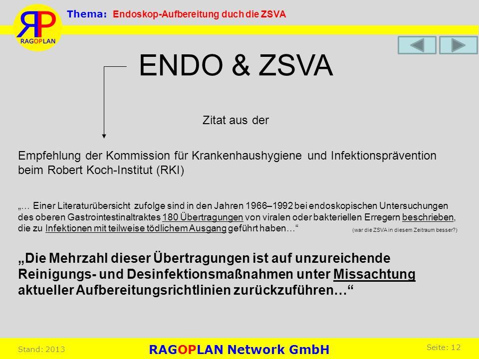 Zitat aus der ENDO & ZSVA … Einer Literaturübersicht zufolge sind in den Jahren 1966–1992 bei endoskopischen Untersuchungen des oberen Gastrointestina